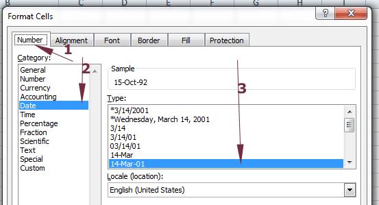 Excel format cells dialog