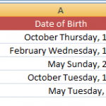 Change the date format in Excel