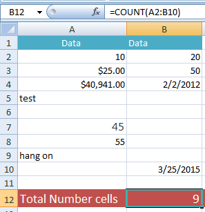 Excel COUNT date