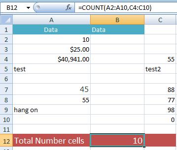 COUNT multi ranges