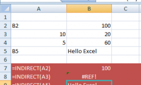 The INDIRECT function in Excel