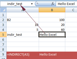 Excel INDIRECT name