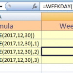 The Weekdays in Excel
