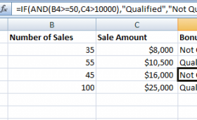 Using Excel AND function with IF