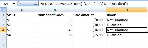 Excel IF AND