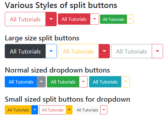 Bootstrap dropdown sizes