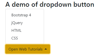 dropdown button dropup