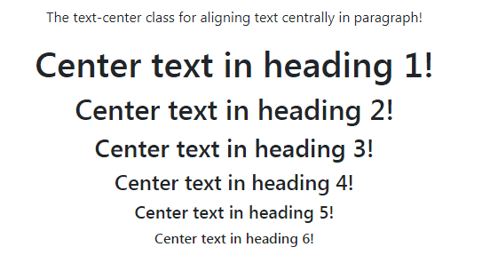 Bootstrap center text