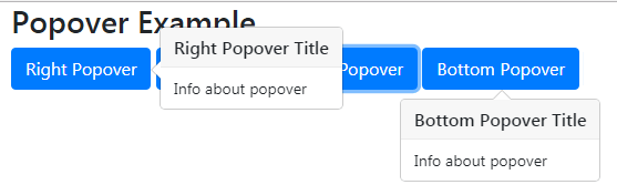 Bootstrap popover directions
