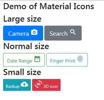 Bootstrap material icons