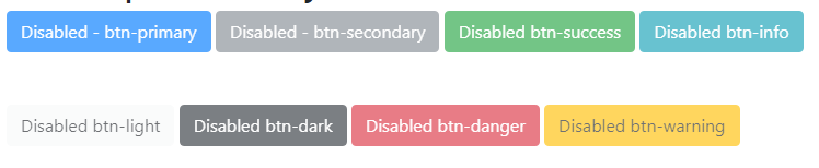 Bootstrap 4 disabled buttons