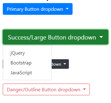 Bootstrap 4 button dropdown
