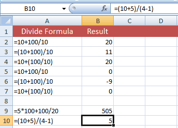 Ways to divide in Excel (5 Formulas and within cells examples)