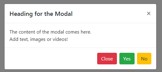 Bootstrap 4 modal simple