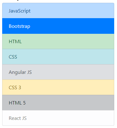 Bootstrap 4 list context