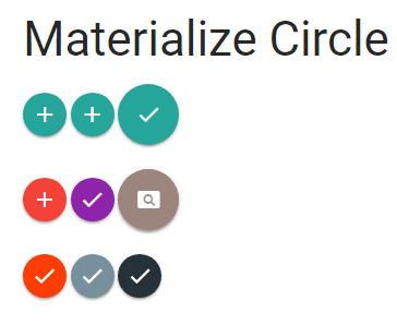 materialize button circle