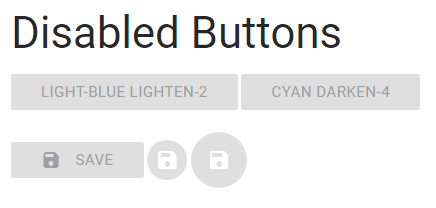 materialize disabled button