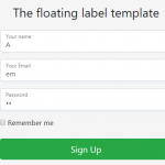 Creating Bootstrap 4 labels in forms