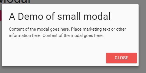 materialize modal small