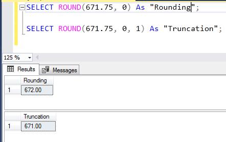 SQL ROUND trunc