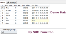 The MAX function in SQL