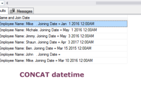 The SQL CONCAT function for string concatenation