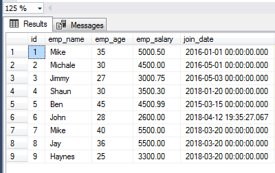 SQL SELECT all