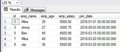 SQL SELECT IN