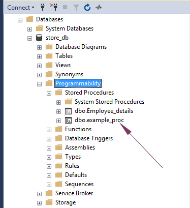 SQL stored procedure