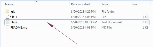 Git branch file