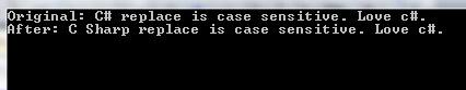 c# string replace case sensitive