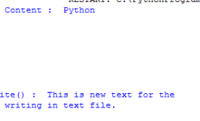 How to write content in a file using Python