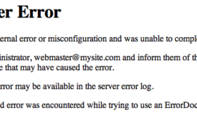 HTTP 500 Internal Server Error – An Intro