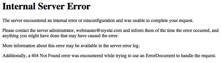 http 500 error htaccess