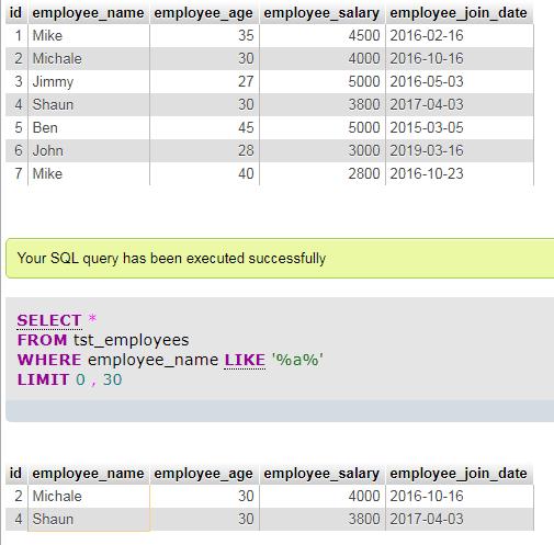 MySQL LIKE wildcard