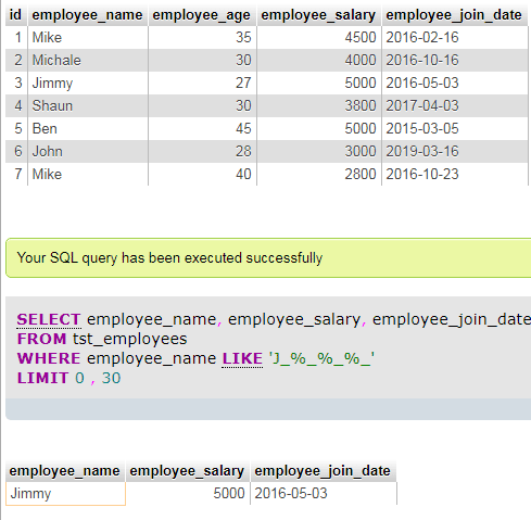 MySQL LIKE under_mod
