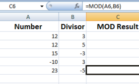 What is Excel MOD function?