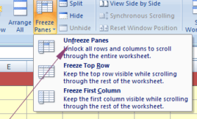 How to freeze panes in Excel?