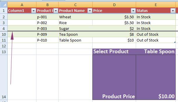 Excel freeze multiple
