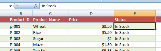 Excel filter select
