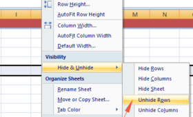 Unhide columns, rows and sheet in Excel