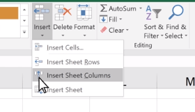 Adding Columns in Excel
