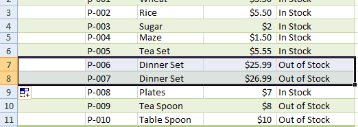 Excel add row-1