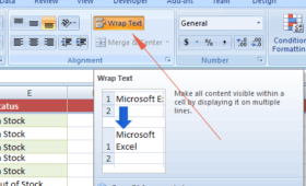 Wrapping Text in an Excel cell