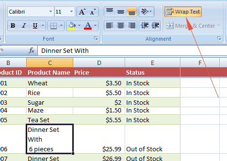 Excel add line