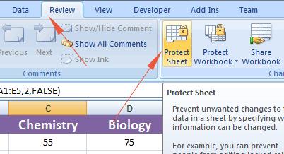 Excel hidden protect