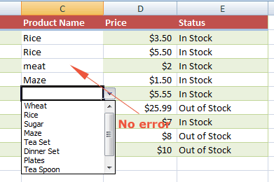 Excel error gone