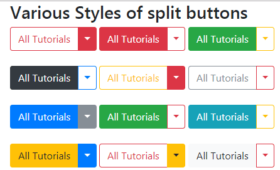 What is a split button for?