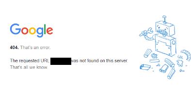 http 404 error code