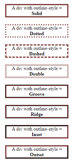 css outline styles